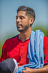 7 March 2013: Washington Nationals pitcher Gio Gonzalez returns from the bullpen prior to a Spring Training game against the Houston Astros at Osceola County Stadium in Kissimmee, Florida. The Astros defeated the Nationals 4-2 in Grapefruit League play. Mandatory Credit: Ed Wolfstein Photo *** RAW (NEF) Image File Available ***