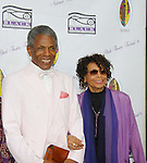 """Andre De Shields """"Marshall Lincoln Kramer III"""" poses with Micki Grant both were on Another World entertain at The National Black Theatre Festival with a week of plays, workshops and much more with an opening night gala of dinner, awards presentation followed by Black Stars of the Great White Way followed by a celebrity reception. It is an International Celebration and Reunion of Spirit. (Photo by Sue Coflin/Max Photos)"""