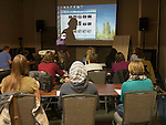 Craig Moore teaching understanding your digital camera in the classroom at Shooting the West XXVII, Winnemucca, Nev.