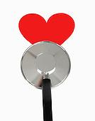 Stethoscope on Heart