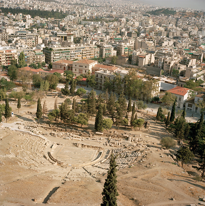 Amphitheater at the Acropolis, Athens, Greece