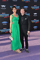 Joe Fria &amp; Guest at the world premiere for &quot;Guardians of the Galaxy Vol. 2&quot; at the Dolby Theatre, Hollywood. <br /> Los Angeles, USA 19 April  2017<br /> Picture: Paul Smith/Featureflash/SilverHub 0208 004 5359 sales@silverhubmedia.com