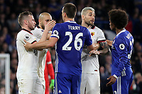 Chelsea's John Terry has words with Tom Cleverly and Valon Behrami of Watford during Chelsea vs Watford, Premier League Football at Stamford Bridge on 15th May 2017