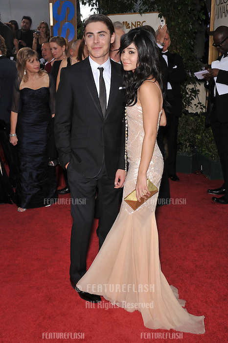 Zac Efron &amp; Vanessa Hudgens at the 66th Annual Golden Globe Awards at the Beverly Hilton Hotel..January 11, 2009 Beverly Hills, CA.Picture: Paul Smith / Featureflash