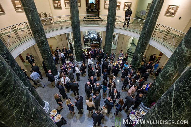 The reception in the lobby of the Florida Supreme Court after the investiture of the Honorable Alan Lawson as the 86th Justice of The Supreme Court of Florida in Tallahassee, Florida