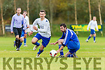 Lukas Polack Killarney Athletic turns Denis Fitzgerald Abbeyfeale United in the FAI cup in Woodlawn on Sunday