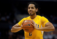 Jorge Gutierrez prepares for the free throw. The California Golden Bears defeated the UCLA Bruins 85-72 during the semifinals of the Pacific Life Pac-10 Conference Tournament at Staples Center in Los Angeles, California on March 12th, 2010.