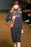 Lindsey Wixson walks runway in an outfit from the Marc by Marc Jacobs Fall/Winter 2011 collection, during New York Fashion Week, Fall 2011.