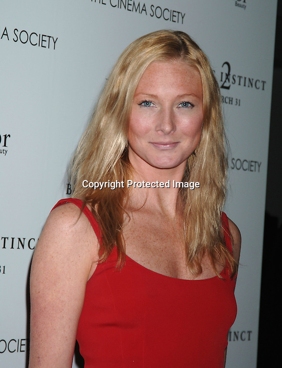 """Maggie Rizer ..at The World Premiere of """"Basic Instinct 2"""" starring ..Sharon Stone and David Morrissey on March 27, 2006..at The Loews Lincoln Square Theatre. The Cinema Society and Dior Beauty were the sponsers of the event. ..Robin Platzer, Twin Images"""