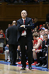 11 November 2016: Marist head coach Mike Maker. The Duke University Blue Devils hosted the Marist College Red Foxes at Cameron Indoor Stadium in Durham, North Carolina in a 2016-17 NCAA Division I Men's Basketball game. Duke won the game 94-49.