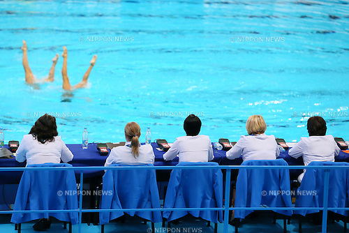 Referee, JULY 30, 2015 - Synchronised Swimming : 16th FINA World Championships Kazan 2015 Duets Free Routine Final at Kazan Arena in Kazan, Russia. (Photo by Yohei Osada/AFLO SPORT)