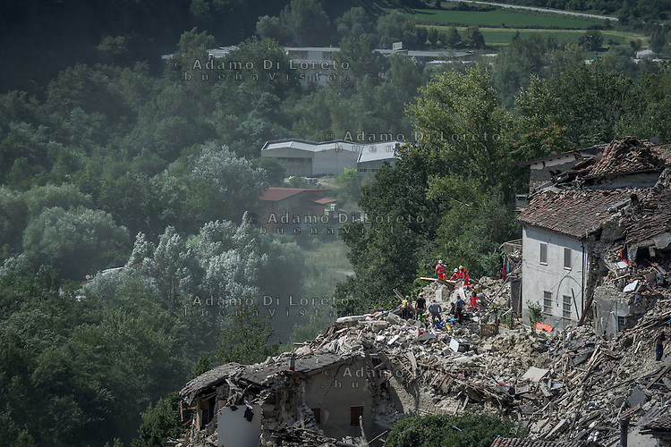 earthquake -  Terremoto in Pescara del Tronto (AP) on August 24, 2016, in Marche, Italy. Photo by Adamo Di Loreto