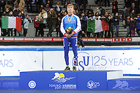 SHORT TRACK: TORINO: 15-01-2017, Palavela, ISU European Short Track Speed Skating Championships, Podium Overall Men, Semen Elistratov (RUS), ©photo Martin de Jong