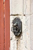 Door knocker in Ballee, Normandy, France