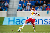 Juninho (8) of the New York Red Bulls. The New York Red Bulls and the Columbus Crew played to a 2-2 tie during a Major League Soccer (MLS) match at Red Bull Arena in Harrison, NJ, on May 26, 2013.
