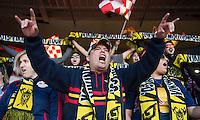 Washington, DC - April 11, 2015: D.C. United tied New York Red Bulls 2-2 during their Major League Soccer (MLS) match at RFK Stadium.