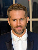 Actor Ryan Reynolds arrives for the State Dinner in honor of Prime Minister Trudeau and Mrs. Sophie Gr&eacute;goire Trudeau of Canada at the White House in Washington, DC on Thursday, March 10, 2016.<br /> Credit: Ron Sachs / Pool via CNP