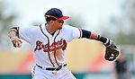 6 March 2012: Atlanta Braves infielder Martin Prado in action during a Spring Training game against the Washington Nationals at Champion Park in Disney's Wide World of Sports Complex, Orlando, Florida. The Nationals defeated the Braves 5-2 in Grapefruit League action. Mandatory Credit: Ed Wolfstein Photo