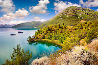 Köyceiz (Koycegiz) Lake in Köyceiz-Dalyan Special Environmental Protection Area. Dalyan,  Turkey