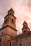 Church in Morelia at dawn