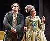 She Stoops to Conquer<br /> by Oliver Goldsmith <br /> directed by James Lloyd<br /> at the Olivier Theatre, Southbank, London, Great Britain <br /> 30th January 2012<br /> <br /> David Fynn (as Tony Lumpkin) <br /> Sophie Thompson (as Mrs Hardcastle)<br /> <br /> <br /> <br /> Photograph by Elliott Franks