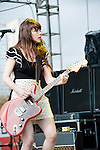 Teri Gender Bender of Le Butcherettes at Fun Fun Fun Fest at Auditorium Shores, Austin Texas, November 6, 2011. Le Butcherettes is a Mexican garage punk band formed in 2007 in Guadalajara by Teri Gender Bender (born Teresa Suar&eacute;z).