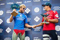Margaret River, Western Australia/AUS (Saturday, April 16, 2016) Sebastian Zietz (HAW)  and Julian Wilson (AUS) - The Drug Aware Margaret River Pro  wrapped up today with Sebastien Sietz (HAW) defeating Julian Wilson (AUS in the 40 minute final. There were strong offshore winds fanning the 4'-6' waves.  Wilson had led the final until the last few minutes when Sietz got the wave he needed to move him into the lead. It was his first World Championship win. <br /> <br /> <br />  <br /> The final event of the tour&rsquo;s Australian leg, the Drug Aware Margaret River Pro picks up where Snapper Rocks and Bells Beach left off, transporting the world&rsquo;s best surfer to the wilds of Western Australia where Margaret River Main Break, the infamous Box and newcomer North Point are all options over the coming two weeks.<br /> <br /> <br /> Photo: joliphotos.com