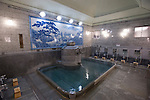 Photo shows the Kami-no-Yu, or God's Water bath at Dogo Onsen, thought to be Japan's oldest spa in Matsuyama City, Ehime Prefecture, Japan on 20 Feb. 2013.  Photographer: Robert Gilhooly