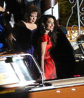 George Clooney & Amal Alamuddin celebrate stag night  at the Da Ivo restaurant in Venice - Italy