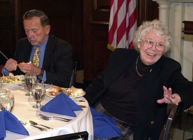 Godwin1103000 -- Connie Godwin, press secretary of Sen. Ted Stevens, R-Alaska, is retiring after 19 years with the Senator and is honored at a suprise luncheon in The Mansfield Room.