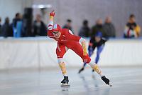 SCHAATSEN: DEVENTER: IJsbaan De Scheg, 26-10-12, IJsselcup, Karsten van Zeijl, ©foto Martin de Jong
