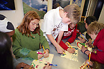 Emma Cook, Dennis Webb, Trillium Neilsen, From Pacific Elementary School Working On Signs For Beach Clean Up