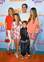 Businessman Mark Cuban &amp; wife Tiffany Stewart &amp; children Alyssa, Jake &amp; Alexis at the Nickelodeon 2017 Kids' Choice Awards at the USC's Galen Centre, Los Angeles, USA 11 March  2017<br /> Picture: Paul Smith/Featureflash/SilverHub 0208 004 5359 sales@silverhubmedia.com