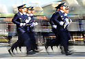 January 6, 2011, Tokyo, Japan - Members of the Tokyo Fire Department parade in front of the viewing stand during the annual Dezomeshiki, a New Years Fire Review in Tokyo on Friday, January 6, 2012. Spectacular demonstrations featured firefighting drills, rescue, first aid, a parade of fire engines and helicopters. (Photo by Natsuki Sakai/AFLO) [36715] -mis-