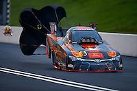 Jun 20, 2015; Bristol, TN, USA; NHRA funny car driver Alexis DeJoria during qualifying for the Thunder Valley Nationals at Bristol Dragway. Mandatory Credit: Mark J. Rebilas-