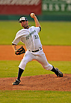 7 July 2008: Vermont Lake Monsters' pitcher Pat McCoy on the mound against the Batavia Muckdogs at Centennial Field in Burlington, Vermont. The Lake Monsters defeated the Muckdogs 3-2 in the final game of their 3-game series...Mandatory Photo Credit: Ed Wolfstein Photo