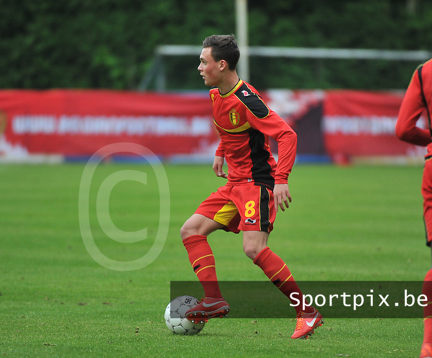 Georgia U19 - Belgium U19 : Birger Verstraete<br /> foto DAVID CATRY / Nikonpro.be