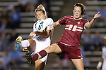 04 October 2012: UNC's Amber Brooks (left) and Boston College's Zoe Lombard (20). The University of North Carolina Tar Heels defeated the Boston College Eagles 1-0 at Fetzer Field in Chapel Hill, North Carolina in a 2012 NCAA Division I Women's Soccer game.