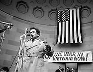 1970, NYC, USA --- American writer and journalist Norman Mailer speaking at a protest against the war in Vietnam. The subjects of his writings include violence, hysteria, crime, and the disarray of modern American society. --- Image by © JP Laffont/Sygma/Corbis