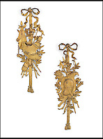 BNPS.co.uk (01202 558833)<br /> Pic: Christie's/BNPS<br /> <br /> ***Please use full byline***<br /> <br /> A pair of French ormolu wall trophies.<br /> <br /> An interior designer to the stars is selling virtually the entire contents of her multi-million pounds London apartment that she is moving out of.<br /> <br /> Tessa Kennedy's client list for home makeovers has included Elizabeth Taylor, George Harrison and Pierce Brosnan as well as famous hotels like the Ritz and Claridges.<br /> <br /> During her jet-set career, she acquired opulent pieces of furniture, art work and ornaments from around the world that she filled her town and country residence with.<br /> <br /> Now aged 75, Miss Kennedy no longer requires her three-bed Knightsbridge flat and is auctioning off most of its contents in a unique sale at Christie's.