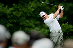 LEE WESTWOOD hits his tee shot on the 13th hole at Congressional Country Club during the first round of the U.S. Open in Bethesda, MD.