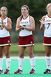 30 September 2016: Boston College's Elizabeth Dennehy. The Duke University Blue Devils hosted the Boston College Eagles at Jack Katz Stadium in Durham, North Carolina in a 2016 NCAA Division I Field Hockey match. Duke won the game 6-2.