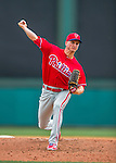 11 March 2016: Philadelphia Phillies pitcher David Buchanan on the mound during a Spring Training pre-season game against the Atlanta Braves at Champion Stadium in the ESPN Wide World of Sports Complex in Kissimmee, Florida. The Phillies defeated the Braves 9-2 in Grapefruit League play. Mandatory Credit: Ed Wolfstein Photo *** RAW (NEF) Image File Available ***
