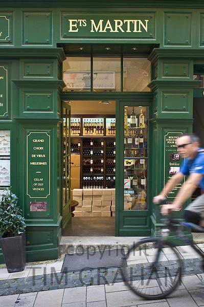 Ets Martin wine merchants fine wines shop in St Emilion in the Bordeaux wine region of France