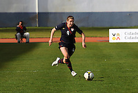 Heather O'Reilly advances the ball. The USWNT defeated Iceland (2-0) at Vila Real Sto. Antonio in their opener of the 2010 Algarve Cup on February 24, 2010.