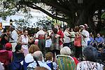 outdoor dancing in the Barrio of Old San Juan, Puerto Rico