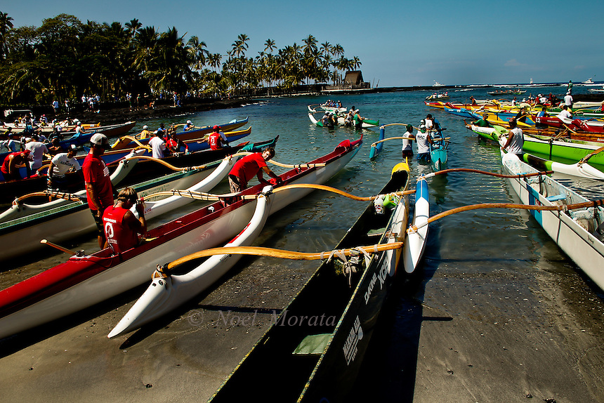 Queen Liliuokalani International canoe competition in Kona, Big Island, Noel Morata Photography