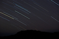 Star trails over Shoshone National Forest Wyoming