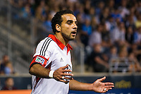 Dwayne De Rosario (7) of DC United. DC United defeated Philadelphia Union 1-0 during a Major League Soccer (MLS) match at PPL Park in Chester, PA, on June 16, 2012.