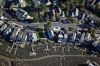 aerial photograph, lwo tide, Novato, Marin County, California